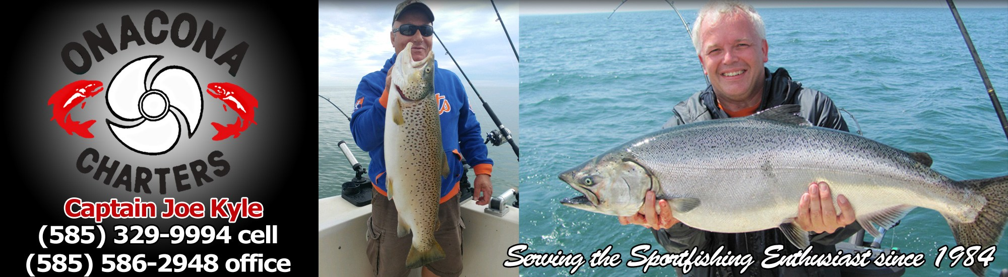 Onacona salmon trout fishing charters on lake ontario for Fishing charters rochester ny